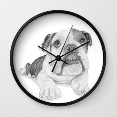 A Bulldog Puppy Wall Clock