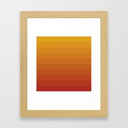 Gradient, Yellow Red Framed Art Print