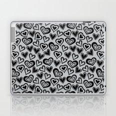 MESSY HEARTS: BLACK GRAY Laptop & iPad Skin