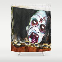 evil dead Shower Curtains featuring The Evil Dead  by Christopher Chouinard