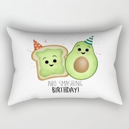 Avo Smashing Birthday - Avocado Toast Rectangular Pillow