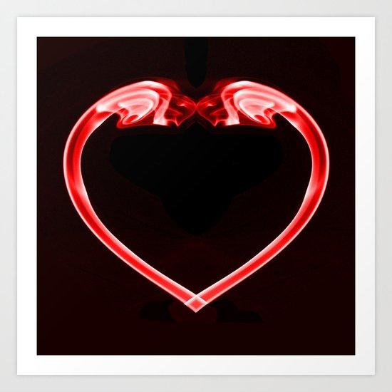 Love Smoke Red Art Print