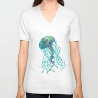 medusa V-neck T-shirts featuring Medusa  by Daniac Design