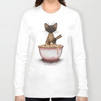 ramen Long Sleeve T-shirts featuring Ramen by Naomi VanDoren