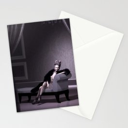 Beautiful courtesan in her lavender salon Stationery Cards