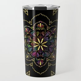 Mandala of Wishes Travel Mug