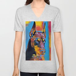 Doberman 6 Unisex V-Neck