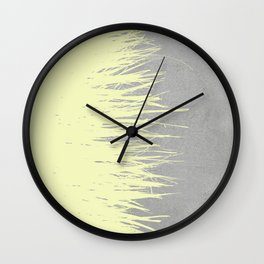 Concrete Fringe Yellow Wall Clock