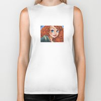 merida Biker Tanks featuring Merida by Genevieve Kay