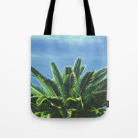 """palm tree Tote Bags featuring Palm TreE  by """"CVogiatzi."""