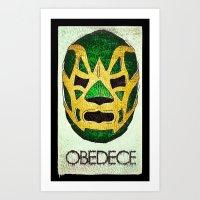 Fishman: OBEDECE Art Print