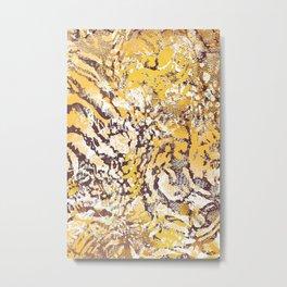 animal skin layers textured in yellow Metal Print