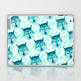 husky - teal pattern Laptop & iPad Skin
