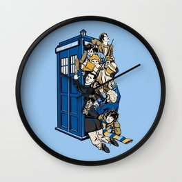 Tardis full Wall Clock