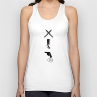 gothic Tank Tops featuring Gothic beauty by Tony Vazquez