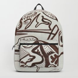 Encre brun Backpack