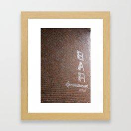 Bar Bricks 2 Framed Art Print