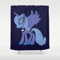mlp Shower Curtains featuring Princess Luna by Adrian Mentus