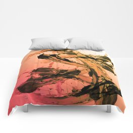 Calm and Fiery Abstraction Comforters