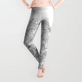 Edinburgh White Map Leggings
