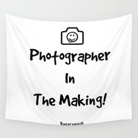 photographer Wall Tapestries featuring Photographer In The Making!  by Louisa Catharine Photography