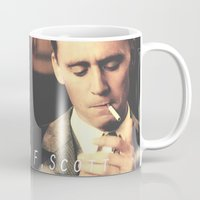 fitzgerald Mugs featuring F. Scott Fitzgerald by Earl of Grey