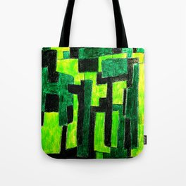 Three Green Puzzle Tote Bag