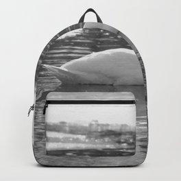 Black and White Swan Backpack