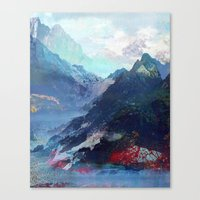 tchmo Canvas Prints featuring Untitled 20130913a (Landscape) by tchmo