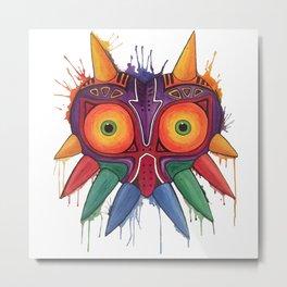 Majoras Mask Metal Print