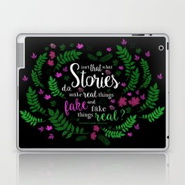Isn't That What Stories Do? (in Floral Black) Laptop & iPad Skin