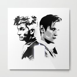 Dr. Who - The Two Doctors  Metal Print
