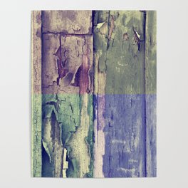 Abstract colored boards pattern Poster