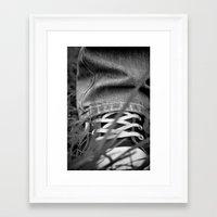 sneakers Framed Art Prints featuring Sneakers by Fine2art