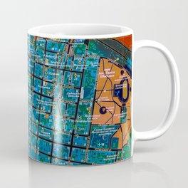 Odessa antique map, colorful mas, classic artwork Coffee Mug