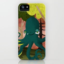 octopus vs sasquatch iPhone Case