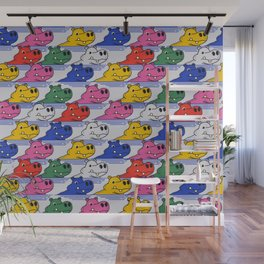 Hippos pattern no2 Wall Mural