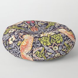 William Morris Strawberry Thief Art Nouveau Painting Floor Pillow