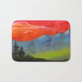 Red sky at night Bath Mat