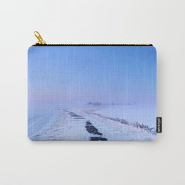 III -  Lake and dike at sunrise in winter in The Netherlands Carry-All Pouch