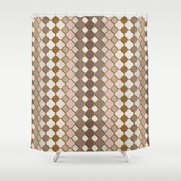 Pattern in Moroccan Style Shower Curtain