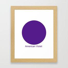 American Violet Framed Art Print