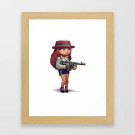 Redhead mobster Framed Art Print