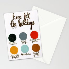 Home for the Holidays - Palette Stationery Cards
