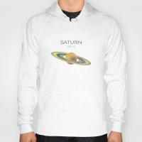saturn Hoodies featuring Saturn by Metron