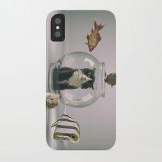 Curiosity killed the cat iPhone X Slim Case
