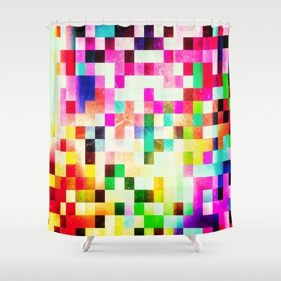 GROWN UP PIXELS Shower Curtain
