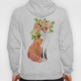 fox with flower crown Hoody