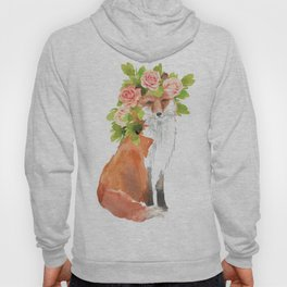 fox with flower crown Hoody