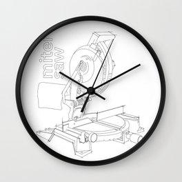 Miter Saw Wall Clock